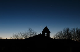 star of night in rustic silhouette