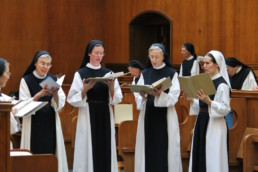 nuns chanting in choir