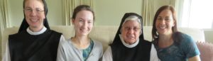 Santa Rita nuns and discerners smiling