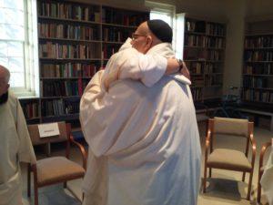Br. John hugging Fr. Efrain