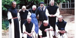 Trappist Monks smiling for group photo