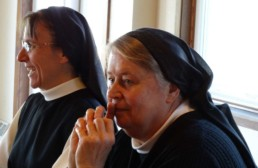 Mississippi DAVA retreat for Young Women; two nuns in picture, one smiling.