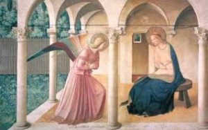 Virgin Mary and Angel Gabriel, Annunciation of the Lord painting
