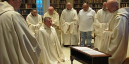 Br. Paul clothed as a novice at Holy Cross Abbey