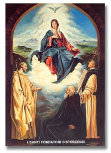 Cistercian Founders with Blessed Virgin Mary
