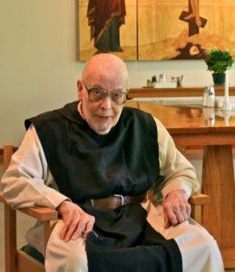 Br. Alberic- elderly monk sitting in chair