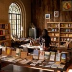 woman browsing in Snowmass Bookstore